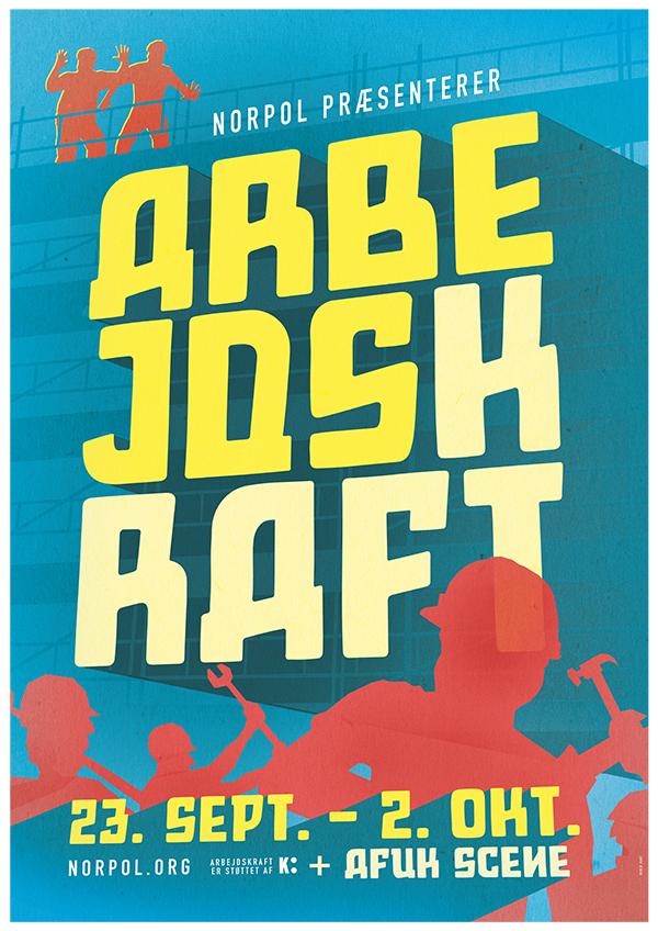 Plakat for forestillingen ARBEJDSKRAFT